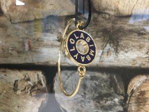 BIMBA Y LOLA Damen Armband Armkette Gold Metall Blau Kreis Rund NEU NEU