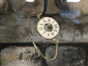 BIMBA Y LOLA Damen Armband Armkette Gold Metall Weiß Kreis Rund NEU NEU
