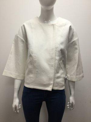 Bimba Y Lola Damen Jacke Blazer Mantel Kurzmantel Baumwolle Weiß Kurz NEU NEU 34