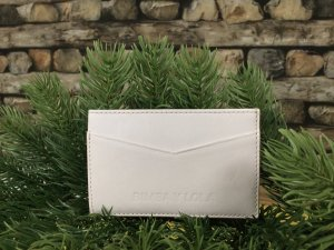 Bimba & Lola Card Case white-natural white leather