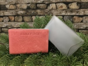 Bimba & Lola Card Case salmon-pink leather