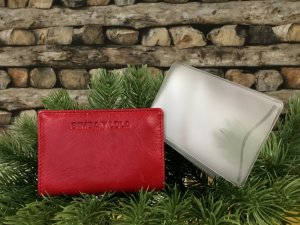 Bimba & Lola Card Case red leather