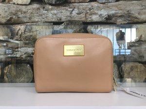 BIMBA Y LOLA Damen Leder Echtleder Tasche Handtasche Bag Clutch Clutches Nude Hellbraun Gold Klein Träger NEU NEU