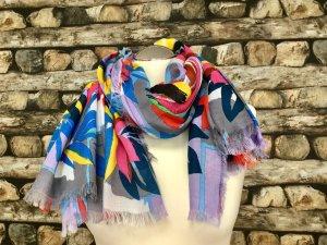 BIMBA Y LOLA Damen Schal Tuch Schals Tücher Bunt Blumen Groß Muster   NEU