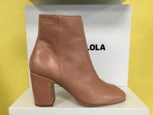 Bimba Y Lola Damen Schuhe Stiefel Boots Ankle Boots Echtleder Salmon Lachs NEU