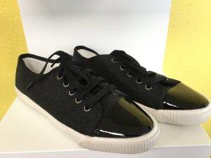 BIMBA Y LOLA Damen Schuhe Turnschuhe Sneaker Schnürsneaker Schnürsenkel Schwarz Perlen Glanz Weiß NEU NEU