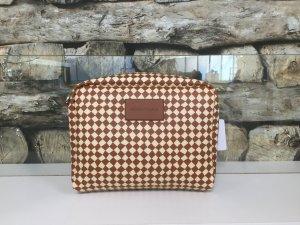 BIMBA Y LOLA Damen Tasche Handtasche Clutch Clutches Bag Klein Braun Beige Kariert Ein Träger NEU NEU