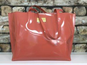 BIMBA Y LOLA Damen Tasche Handtasche Shopper Bag Pink Gelb Gold Glanzlack Groß NEU NEU