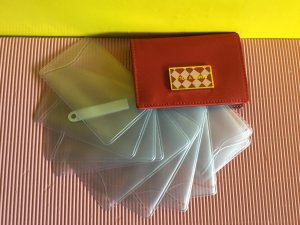 Bimba & Lola Card Case dark red