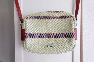 Bimba & Lola Crossbody bag brick red-natural white synthetic fibre