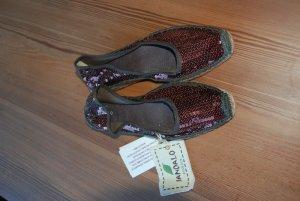 Espadrille sandalen bruin