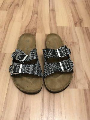 Sandales confort noir-blanc