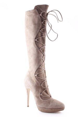 Biondini Absatz Stiefel graubraun Eleganz-Look