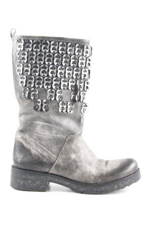 Biondini Ankle Boots grüngrau-taupe Biker-Look