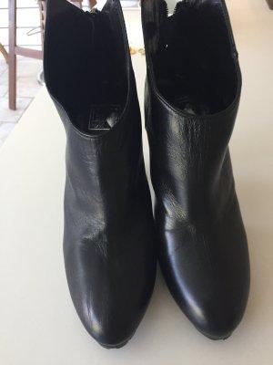 Biondini High Heels black leather