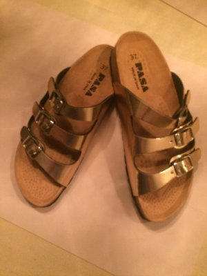 Strapped High-Heeled Sandals bronze-colored