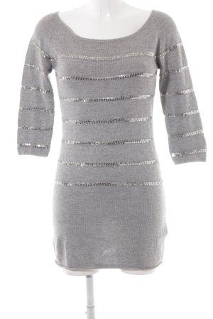Birger et Mikkelsen Vestido tejido gris claro look casual