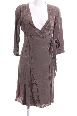 Birger et Mikkelsen Vestido cruzado marrón elegante