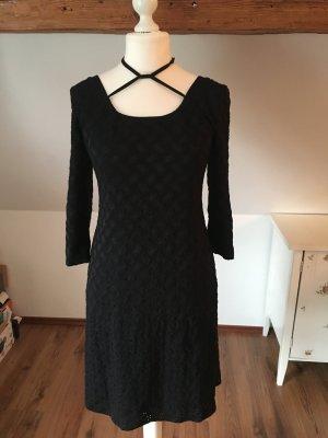 Birgit Nehls L 40 42 Kleid schwarz spitze Abendkleid a Linie