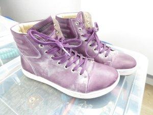 Birkenstock Lage schoenen donkerpaars Leer