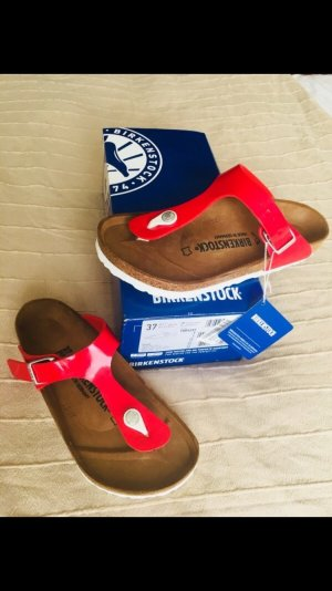 Birkenstock Toe-Post sandals red-white