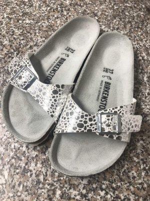 Birkenstock Comfort Sandals white-silver-colored