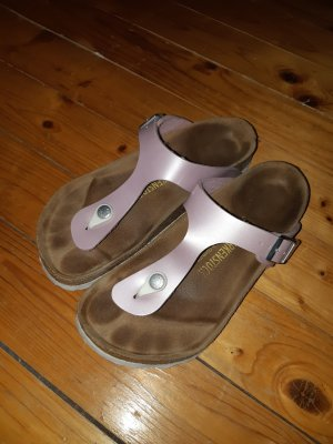Birkenstock Sandalo infradito marrone-grigio-rosa antico