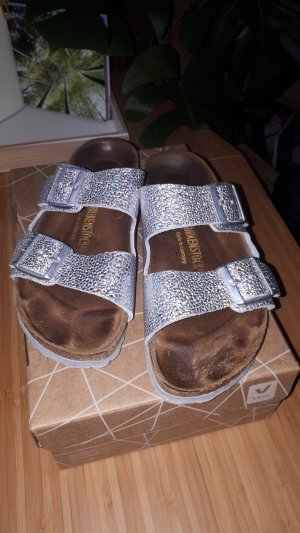 Birkenstock Comfort Sandals silver-colored-light brown