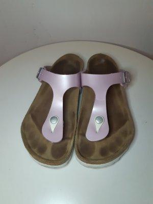 Birkenstock Sandalias de tacón con talón descubierto marrón grisáceo-rosa