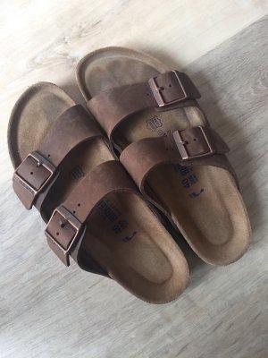 Birkenstock Comfortabele sandalen bruin-zwart