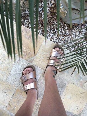 Birkenstock Sandalo bronzo-marrone chiaro