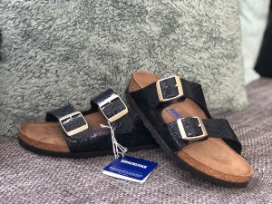 Birkenstock Arizona Gr. 37 Myda Night schmal
