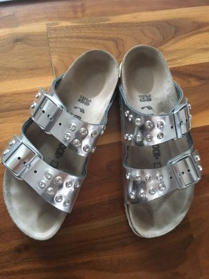 Birkenstock Sandals white-silver-colored