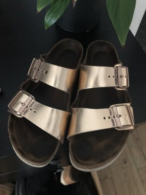 Birkenstock Arizona Metallic Rosegold