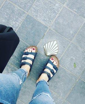 Birkenstock Sandalo marrone chiaro-blu scuro