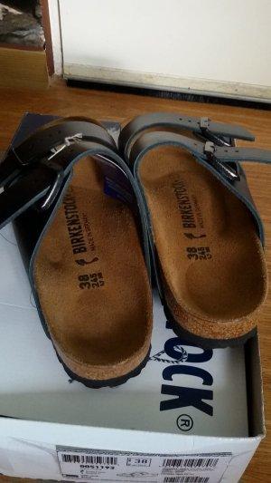 Birkenstock Sandalo comodo nero Pelle