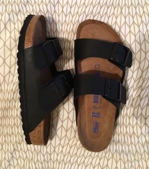 Birkenstock Sandalo nero-marrone Pelle