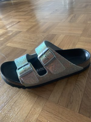Birkenstock Arizona Silver Black