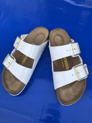 "Birkenstock ""Arizona Studs"" Limited Edition weiß-Gold Gr. 37"