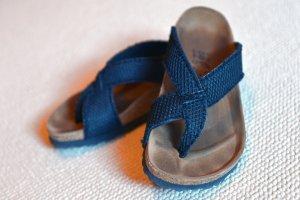 Birkenstock High-Heeled Toe-Post Sandals black textile fiber