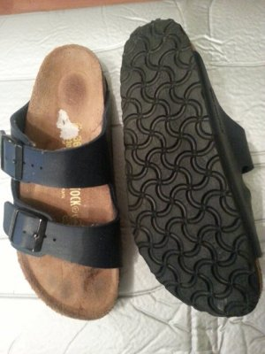 Birkenstock Comfort Sandals dark blue leather