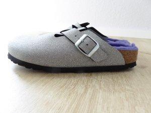 Birkenstock Slip-on Shoes silver-colored-blue violet mixture fibre