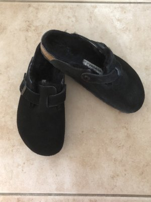 Birkenstock House Shoes black suede