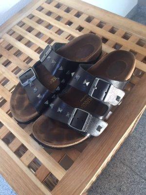 Birkenstock Shoes black leather