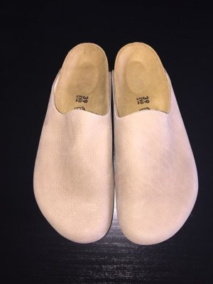 Birkenstock Sabots beige leather