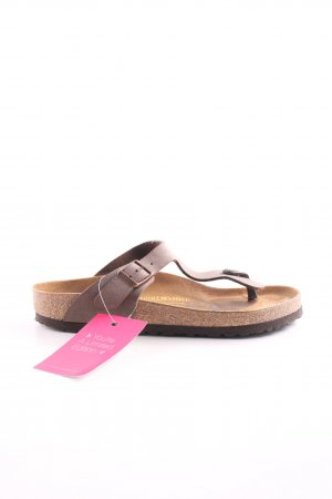 Birkenstock Dianette-Sandalen braun-wollweiß Casual-Look