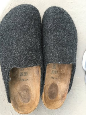 Birkenstock Scuffs grey wool