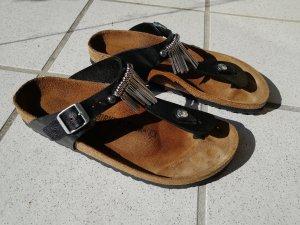 Birkenstock Sandalo toe-post nero-argento