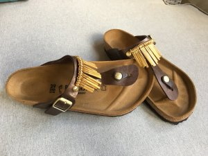 Birkenstock Mules brown-gold-colored