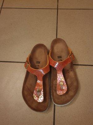 Birkenstock Toe-Post sandals gold orange